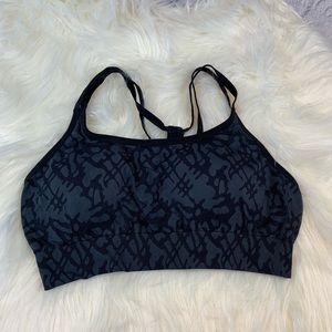 Black and Grey Champion Sports Bra Size XL